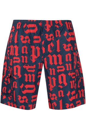 Palm Angels Logo-print swim shorts