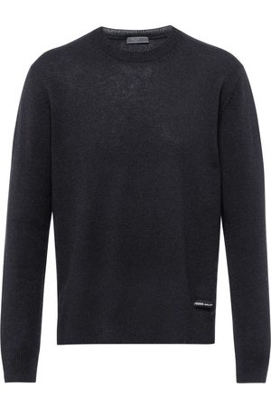 Prada Men Sweatshirts - Crew neck cashmere jumper