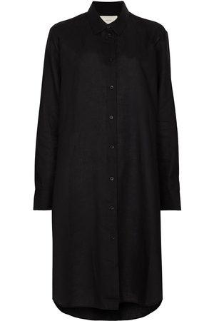 ASCENO Organic linen shirt dress