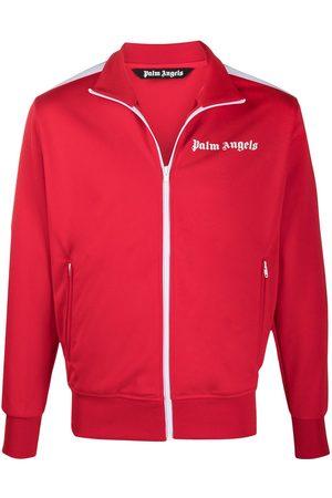 Palm Angels Logo-print zip-up track jacket