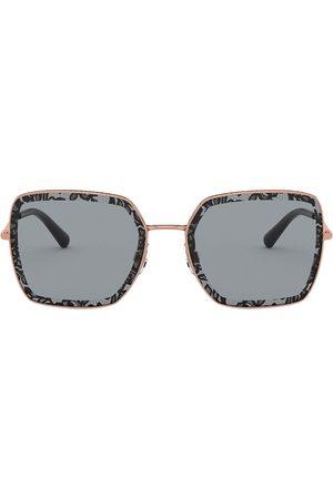 Dolce & Gabbana Women Square - Slim square-frame sunglasses - Grey