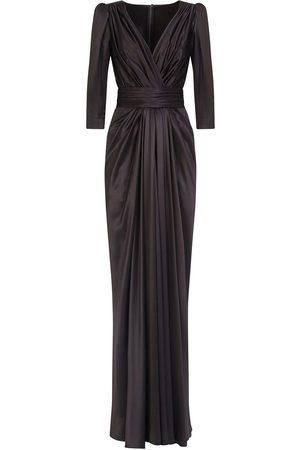 Dolce & Gabbana Women Evening dresses - Draped V-neck gown