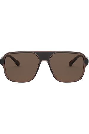 Dolce & Gabbana Men Aviators - Step injection aviator-frame sunglasses