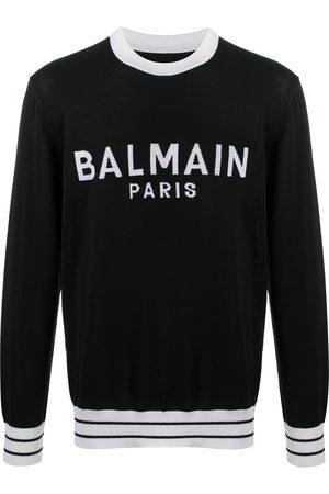 Balmain Men Sweatshirts - Logo knitted jumper