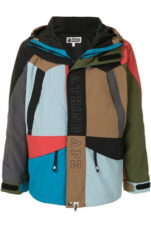 A BATHING APE® Men Ski Suits - Cordura colour-block snowboard jacket - Multicolour
