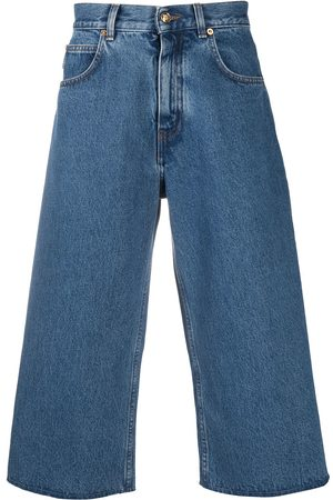 VERSACE Wide-leg cropped jeans