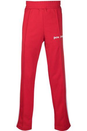 Palm Angels Stripe-detail logo track pants