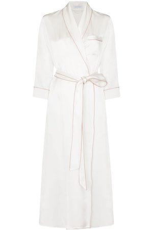 Olivia von Halle Astrid midi silk robe