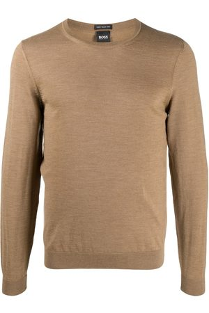 HUGO BOSS Men Sweatshirts - Long-sleeve fitted jumper