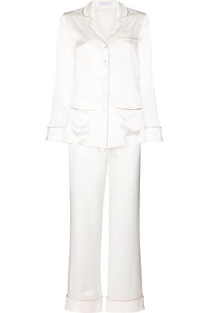 Olivia von Halle Two-piece silk pajama set