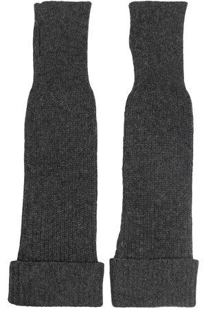 Ganni Long fingerless gloves - Grey