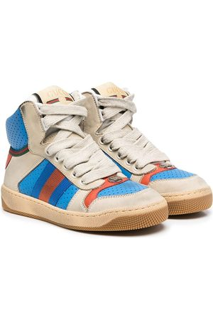 Gucci Boys Sneakers - High-top leather sneakers - Neutrals