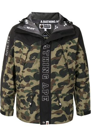 A BATHING APE® Men Ski Suits - Camouflage print logo jacket