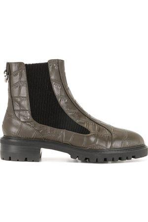 SENSO Manu I crocodile-effect ankle boots
