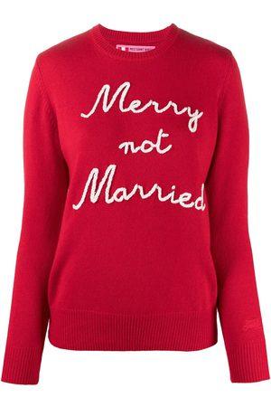 MC2 SAINT BARTH Marry Not Married intarsia rib-trimmed jumper