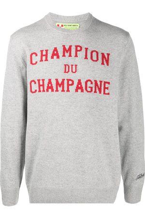 MC2 SAINT BARTH Men Sweatshirts - Champion Du Champagne intarsia jumper - Grey