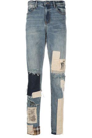 VAL KRISTOPHER Patchwork straight-leg jeans