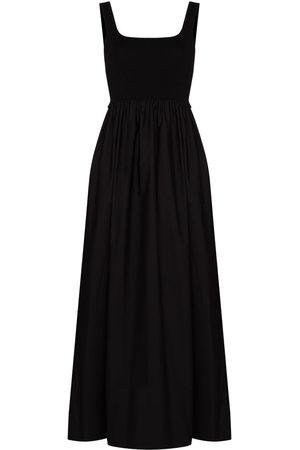 MATTEAU Gathered-waist sleeveless maxi dress