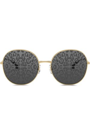 Dolce & Gabbana Women Round - Slim round-frame sunglasses - Grey
