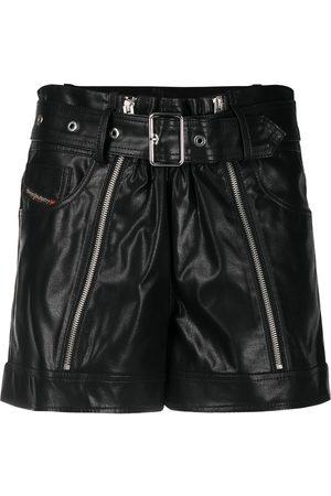 Diesel Zip-detail belted shorts