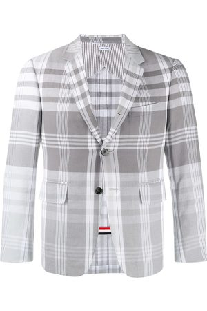 Thom Browne Madras check suit jacket - Grey
