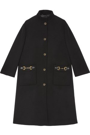 Gucci Horsebit-detail single-breasted coat