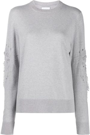 Barrie 3D thistle embroidered jumper - Grey
