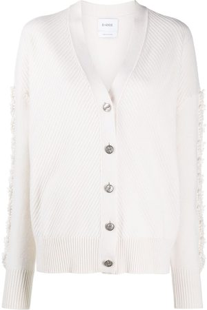Barrie Thistle-knit sleeve cashmere cardigan - Neutrals