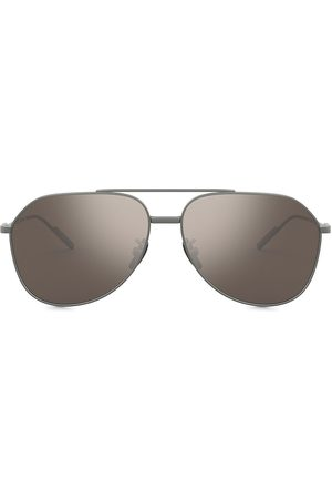Dolce & Gabbana Mirrored aviator-frame sunglasses - Grey