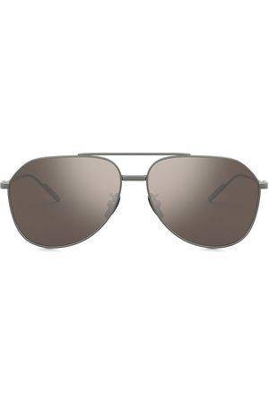 Dolce & Gabbana Mirrored aviator-frame sunglasses - Grey