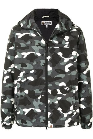 A BATHING APE® City camo hooded jacket - Grey