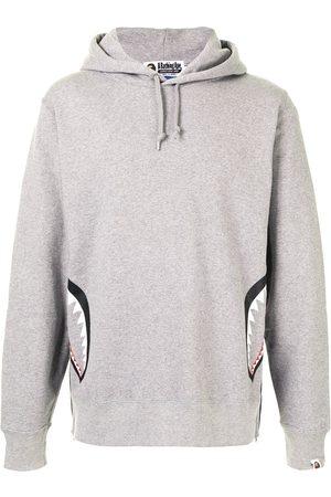 A BATHING APE® Men Hoodies - Camouflage back drawstring hoodie - Grey