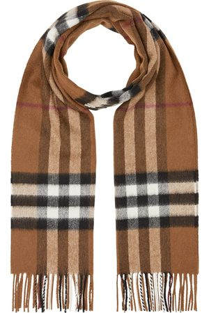 Burberry Scarves - Classic-check fringed scarf