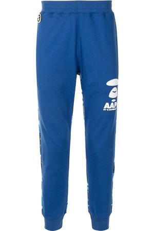 AAPE BY *A BATHING APE® Camouflage-panel tapered track pants