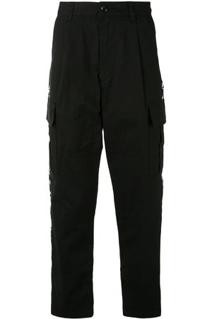 A BATHING APE® Men Cargo Pants - Logo-tape cargo trousers