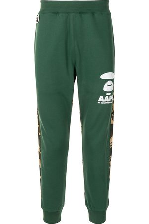 AAPE BY *A BATHING APE® Men Sweatpants - Camouflage-panel tapered track pants