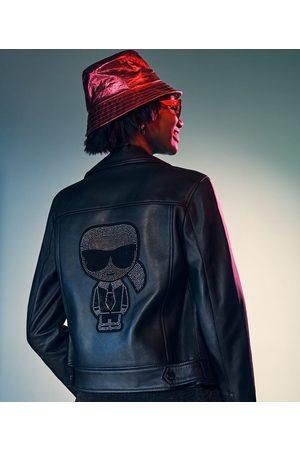 Karl Lagerfeld K/IKONIK RHINESTONE BIKER JACKET