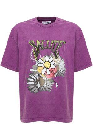 SALUTE Men T-shirts - Flower Vintage Washed Cotton T-shirt
