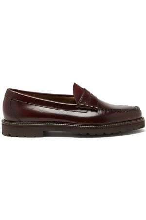 G.H. Bass Weejuns 90s Larson Leather Penny Loafers - Mens - Burgundy