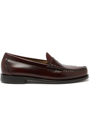 G.H. Bass Men Loafers - Larson Weejun Leather Penny Loafers - Mens - Burgundy