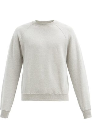 Les Tien Crew-neck Brushed-back Cotton Sweatshirt - Mens - Grey