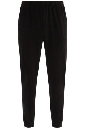 Les Tien Brushed-back Cotton Velour Track Pants - Mens