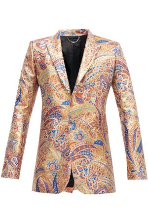 Paco rabanne Single-breasted Paisely-jacquard Jacket - Mens - Multi
