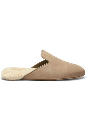 Inabo Men Slippers - Fritz Suede And Shearling Slippers - Mens