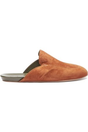 Inabo Men Slippers - Slowfer Leather And Suede Slippers - Mens
