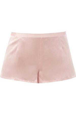 La Perla Silk-satin Pyjama Shorts - Womens - Light