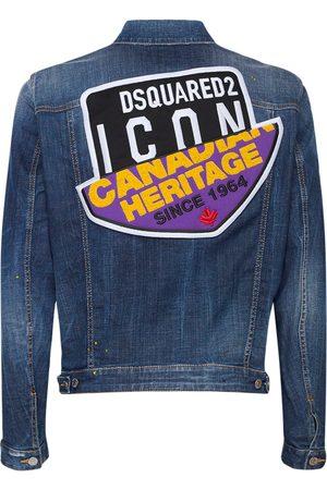 Dsquared2 Icon Patch Dan Cotton Denim Jacket