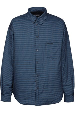Balenciaga Men Casual - Padded Check Flannel Shirt Jacket