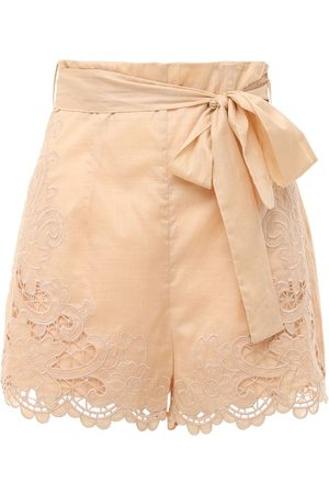 ZIMMERMANN Brighton Scalloped Cotton Shorts