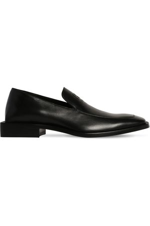 Balenciaga Men Loafers - Coin Rim Loafer L20 Leather Loafers